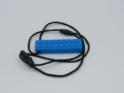 Chew-able block blue front