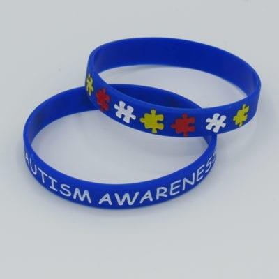 Autism Awareness Wristband front back