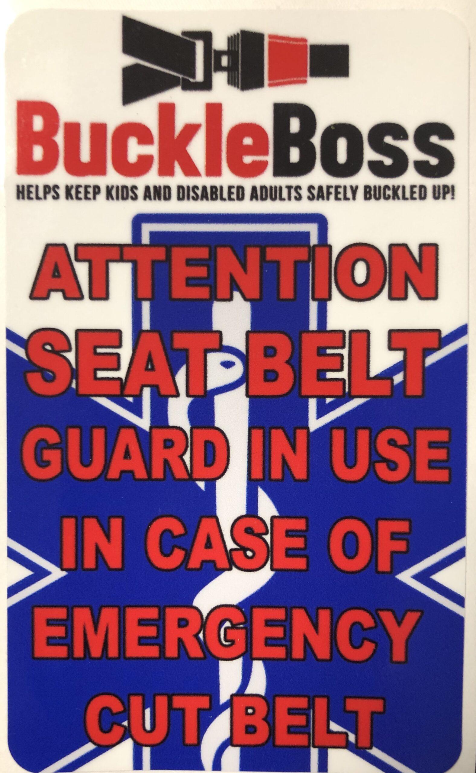 Buckle Boss Emergency Window Sticker